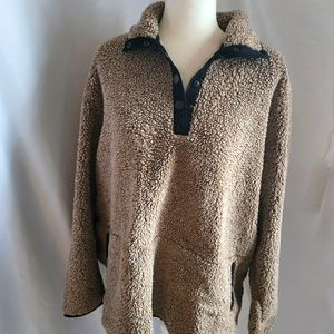 Natural reflections sherpa sweater shacket size 1X